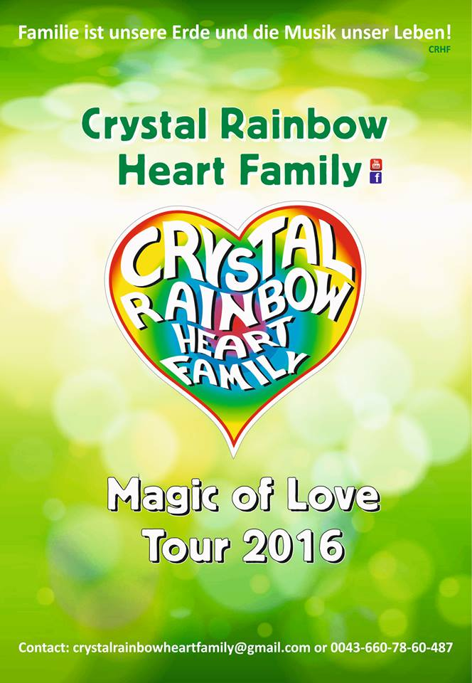 Crystal Rainbow Heart Family
